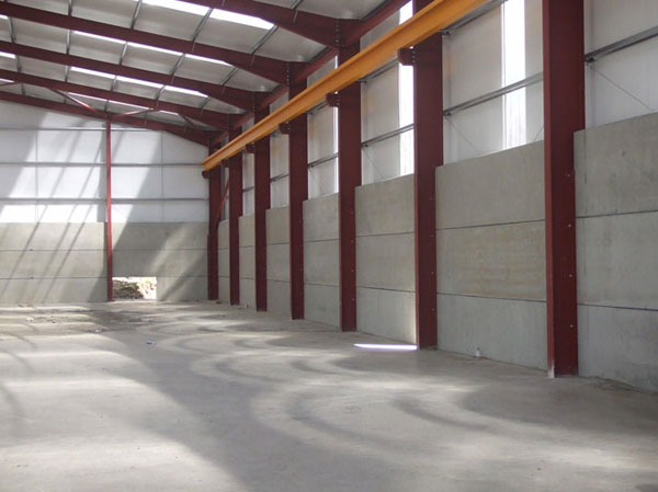 Warehouse Construction By Hollow Core Planks Slabs For